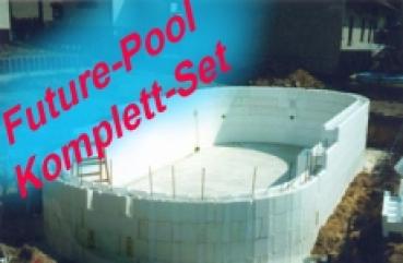 Styropor Schwimmbecken Komplett Bausatz Ovalbecken 400x250x150 Cm