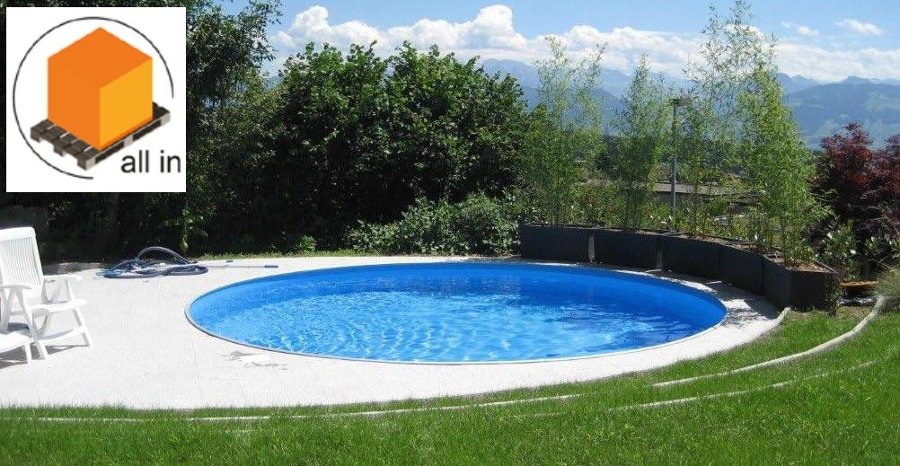 All in einbaubeckenset rundbecken fun 500 x 150 cm for Pool rundbecken