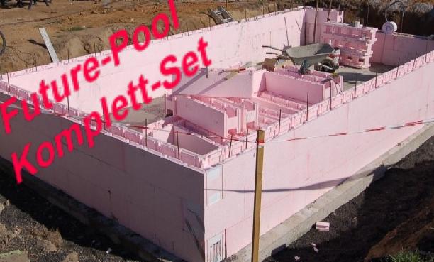 Styropor Schwimmbecken Komplett Bausatz Rechteck 650x350x150 Cm