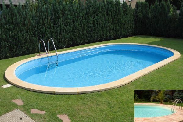 Ovalbecken Future-Pool Swim 450x300x150 cm mit Alu-Handlauf