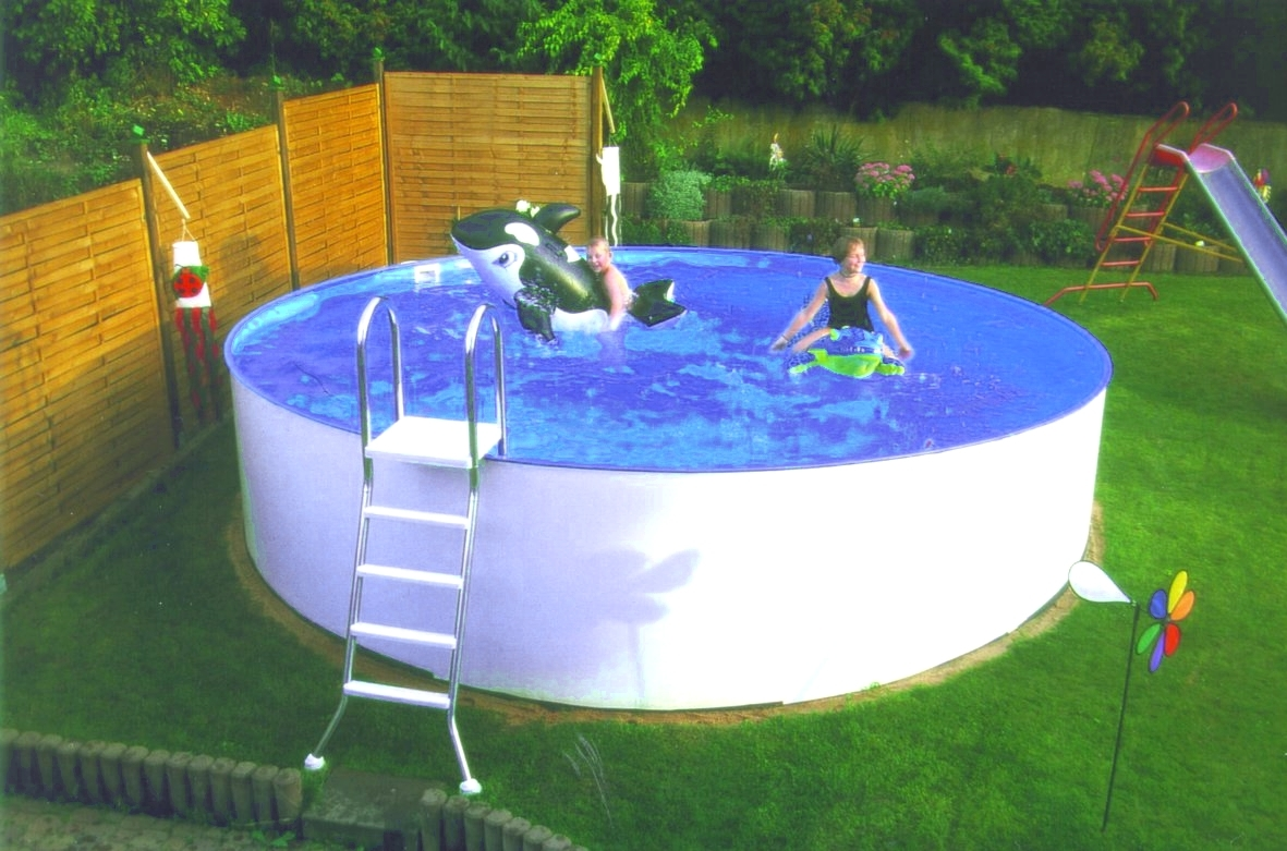 Pool rund beautiful rund with pool rund trendy azuro for Ersatzfolie pool rund