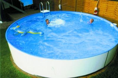 Stahlwandbecken sets future pool fun rundschwimmbecken for Rundpool 150 tief